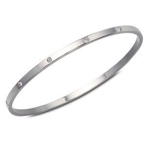 Swarovski Crysyal Silver Bangle